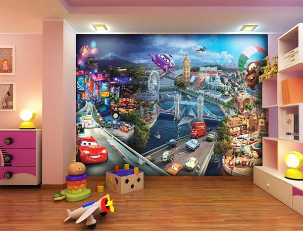 Fotomurales para decorar una habitaci n o espacio infantil pinturas arte nuevo - Kinderzimmer auto ...
