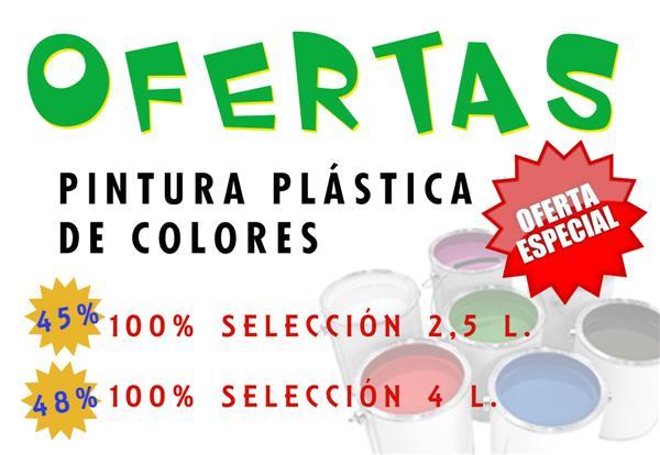 OFERTA PINTURA PLÁSTICA COLORES 2013