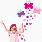 VINILO INFANTIL BUTTERFLOWERS 06