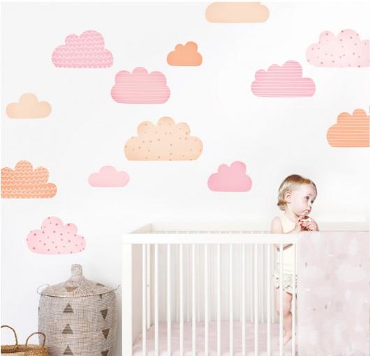 vinilo-infantil-pink-clouds