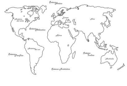 Mapa mundi blanco y negro sin nombres  Imagui
