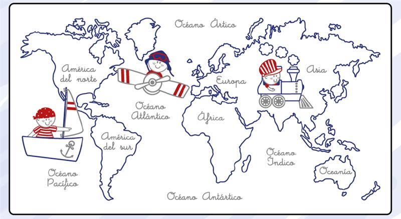 Jacinto se enreda especial mapas espa a europa y el mundo for Mapa del mundo decoracion