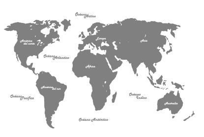 Vinilos mapamundi pinturas arte nuevo for Vinilo mapa del mundo