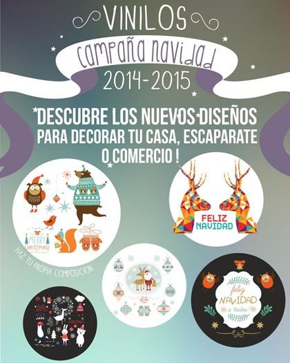 DECORACIÓN NAVIDEÑA CON VINILOS DECORATIVOS 2014-15
