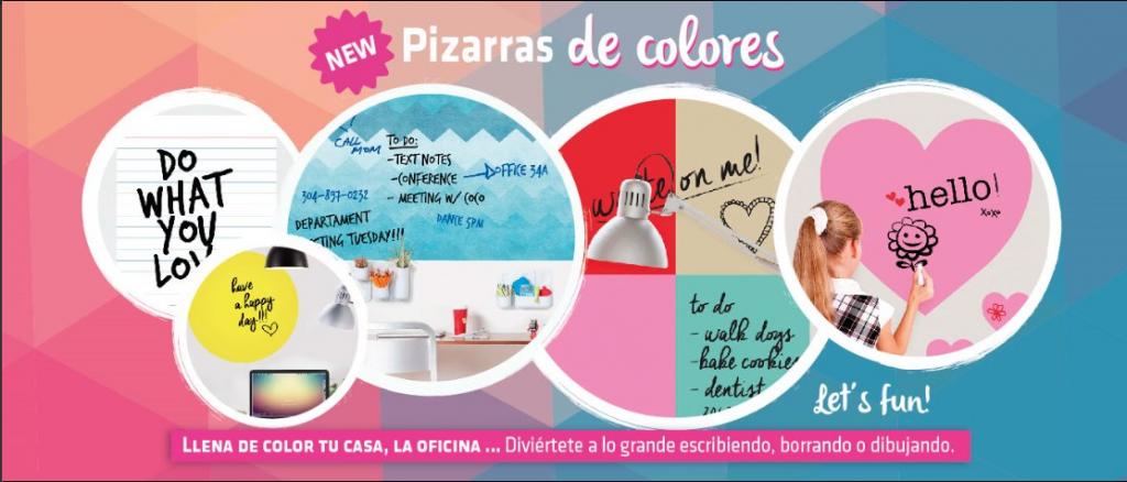 VINILOS DE PIZARRA DE COLORES